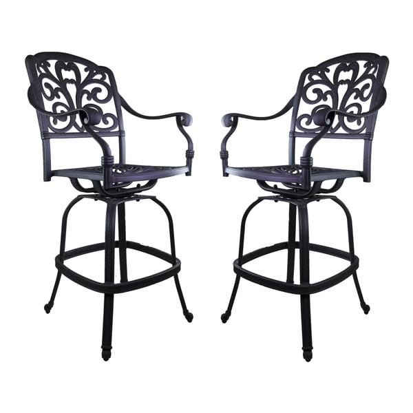 Shop London Black Aluminum Barstools Set Of 2 Free