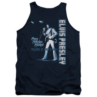 Elvis/One Night Only Adult Tank in Navy