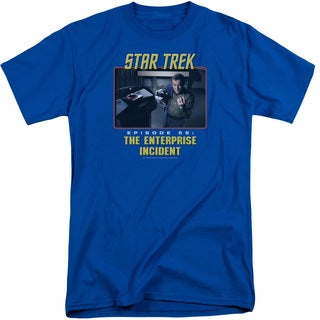 St Original/The Enterprise Incident Short Sleeve Adult T-Shirt Tall in Royal