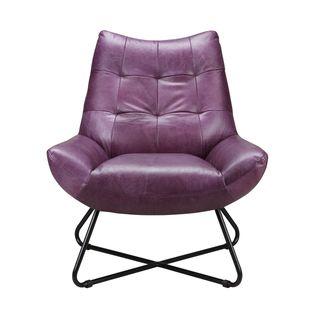 Aurelle Home Leather Lounge Chair