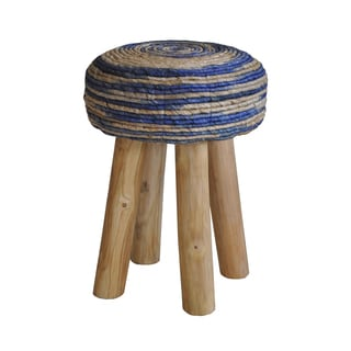 Aurelle Home Minimus Stool Round Blue