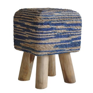 Aurelle Home Minimus Stool Square Blue
