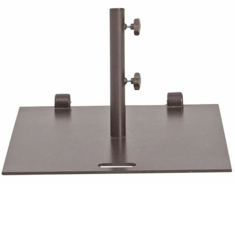 Havenside Home Alpine 24-inch Square Wheeled Umbrella Base Stand