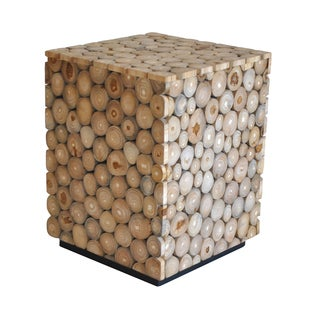 Aurelle Home Teak Stool Square