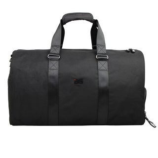 AfterGen Metro Black Polyester Large Sports Duffel Bag