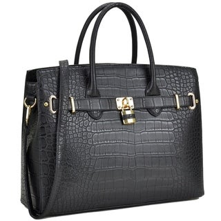 Link to Dasein Croco Embossed Satchel with Padlock Similar Items in Shop By Style