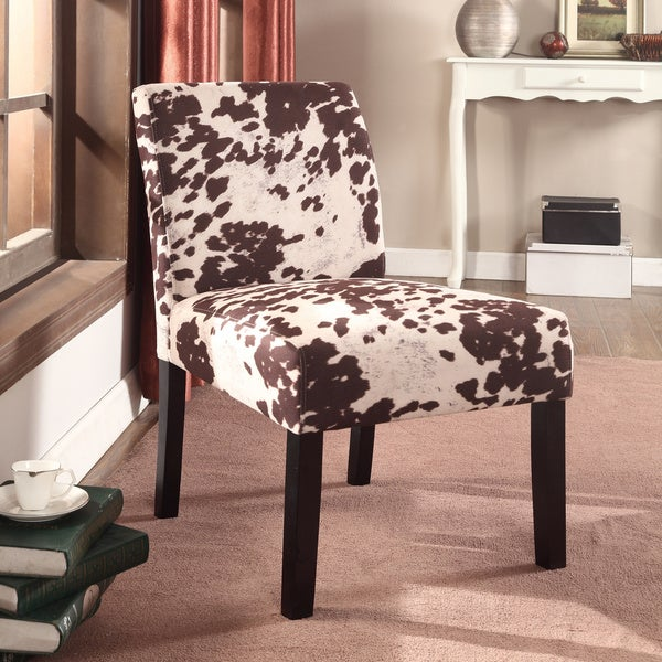 US Pride Furniture Wood Mottled Fabric Accent Chair with