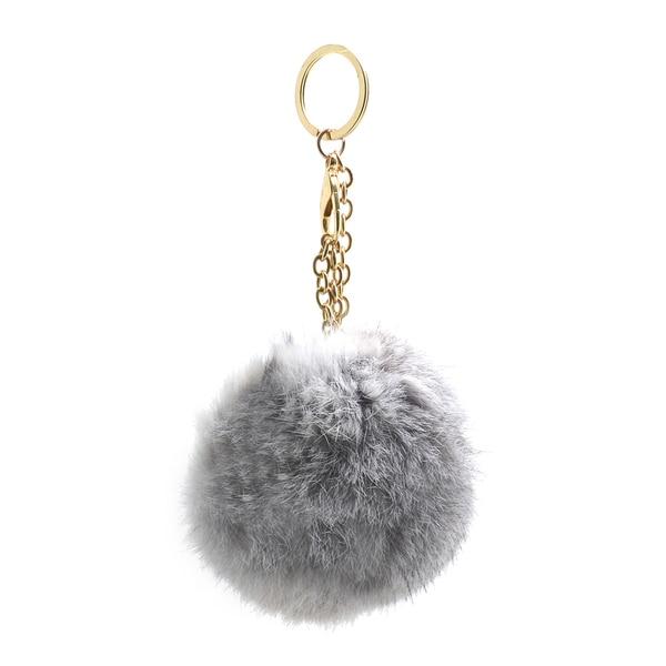 dd0358da407d Dasein Fluffy Faux Fur Pom Pom Key Chain Handbag Purse Charm Accessory
