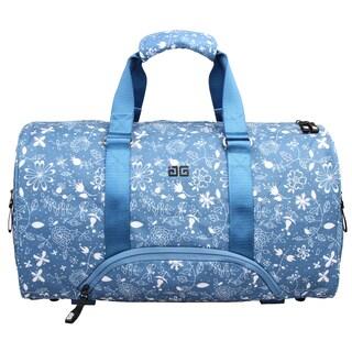 AfterGen Blue Flower Vedic Yoga Duffel Bag