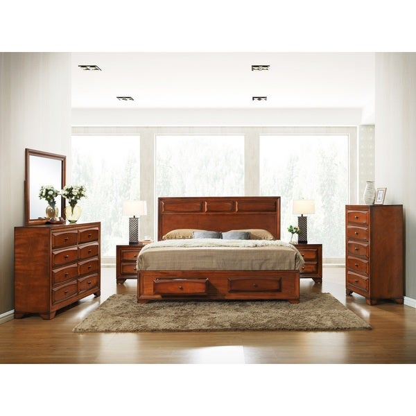 Oakland 139 Antique Oak Queen-size 6-piece Bed Room Set