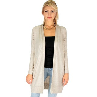 Long-Line Hooded Cardigans