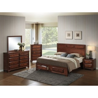 Oakland 139 Antique Oak Wood Queen-size 5-piece Bedroom Set