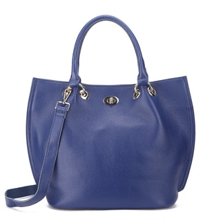 Pink Haley Selah Blue/Black/Grey Leather Tote Bag|https://ak1.ostkcdn.com/images/products/12542361/P19345195.jpg?impolicy=medium