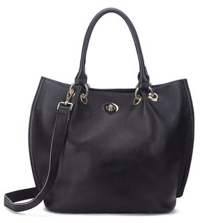 Pink Haley Selah Blue/Black/Grey Leather Tote Bag