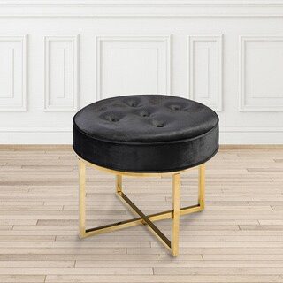 Blue/Red/Black Spring Round Ottoman