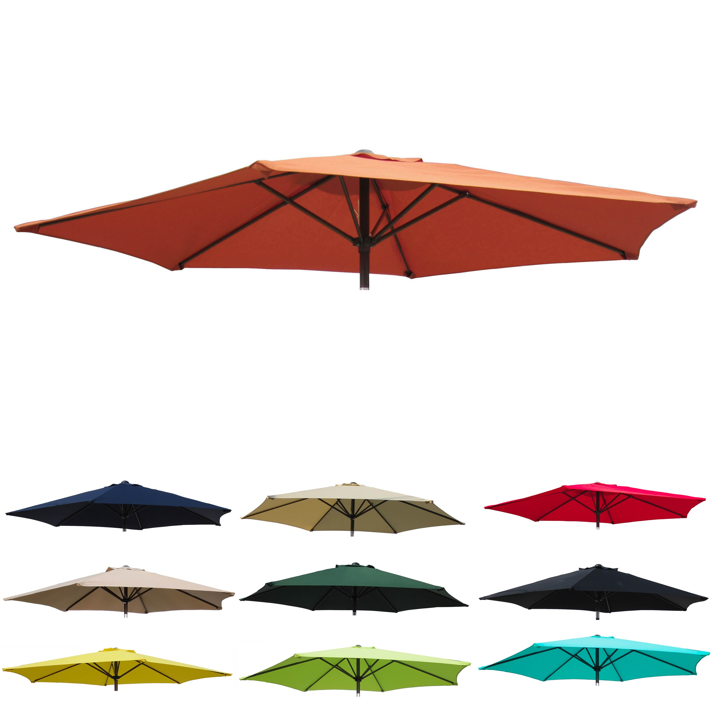 8 Foot Patio Umbrella In Navy Blue