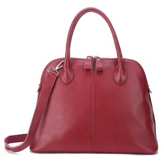 Pink Haley Thea Red/Black/Brown Leather Satchel Bag