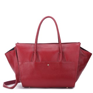 Pink Haley Winnie Large Leather Tote Bag