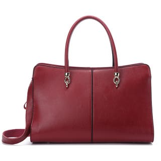 Pink Haley Jonquil Large Leather Satchel|https://ak1.ostkcdn.com/images/products/12542546/P19345297.jpg?impolicy=medium