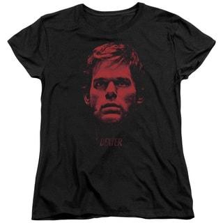 Dexter/Bloody Face Short Sleeve Women's Tee in Black
