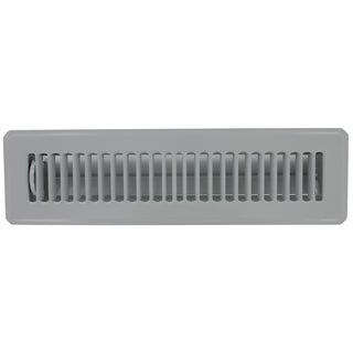 "Norwesco 558025 16"" x 4"" Galvanized Soffit Vent With Damper"