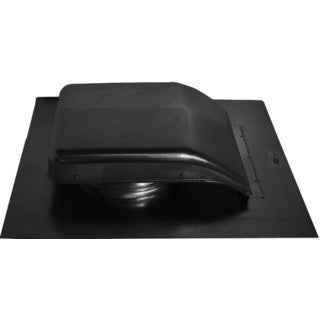 "Norwesco 557153 18"" x 22"" Black Roof RV49 Ventilator"
