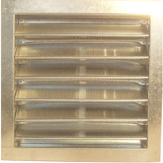 "Norwesco 553220 12"" x 12"" Galvanized Recessed Attic Vent"