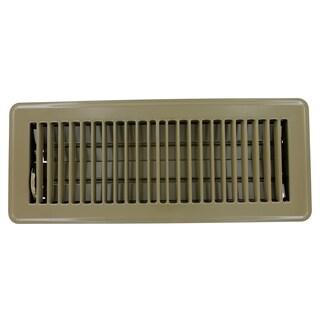 """American Metal Products 413B4X14 4"""" X 14"""" Brown Steel Floor Register"""