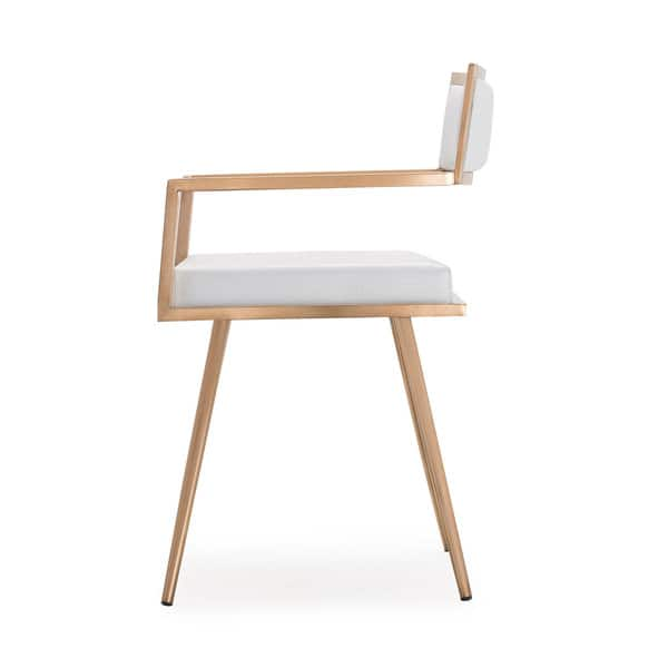 Brilliant Shop Marquee Mid Century Modern White Accent Chair Set Of 2 Andrewgaddart Wooden Chair Designs For Living Room Andrewgaddartcom