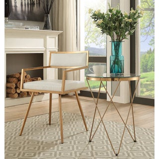 Marquee Mid Century Modern White Accent Chair (Set of 2)