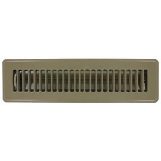 """American Metal Products 413B2X12 2"""" X 12"""" Brown Steel Floor Register"""