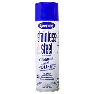 Sprayway SW841R 20 Oz Aerosol Stainless Steel Polish & Cleaner