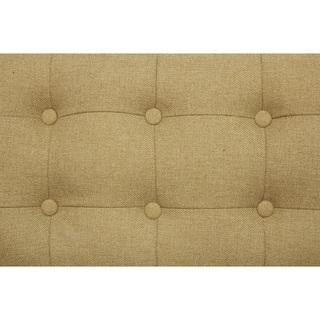 Chic Home Draper Linen Button-tufted Square Arm Sofa