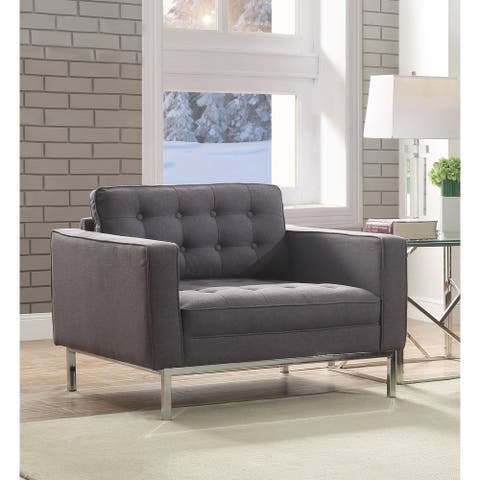 Chic Home Draper Linen Modern Contemporary Button-tufted Club Chair