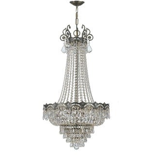 Crystorama Majestic Collection 8-light Historic Brass/Swarovski Strass Crystal Chandelier