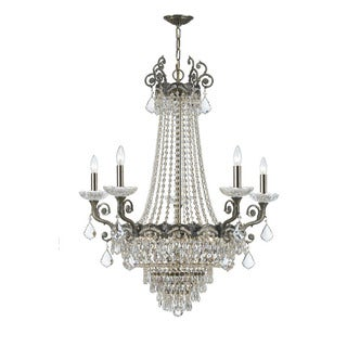 Crystorama Majestic Collection 13-light Historic Brass/Swarovski Spectra Crystal Chandelier