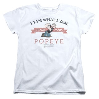 Popeye/Vintage Short Sleeve Women's Tee in White