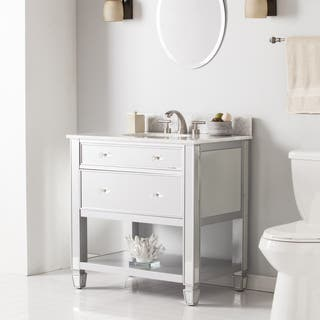 Harper Blvd Sutcliffe Marble Top Bath Vanity Sink White Bathroom Vanities  Cabinets For Less Overstock