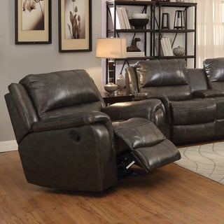 Coaster Company Dark Brown Leather Power Glider Recliner