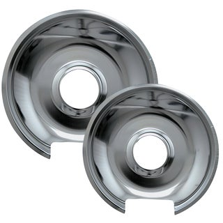 Range Kleen 10342X 6 & 8 Style E Chrome Drip Pans 2-count
