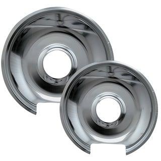 Range Kleen 10342X 6 & 8 Style E Chrome Drip Pans 2-count