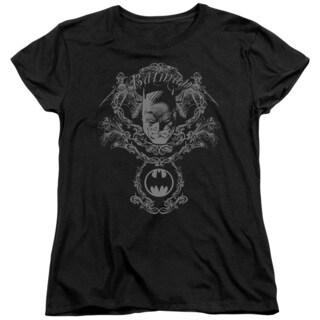 Batman/Dark Knight Heraldry Short Sleeve Women's Tee in Black