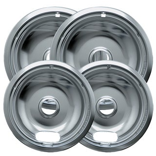 "Range Kleen 10124XN 6"" & 8"" Style A Chrome Drip Pans 4-count"
