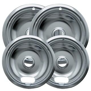Range Kleen 10124XN 6 & 8 Style A Chrome Drip Pans 4-count