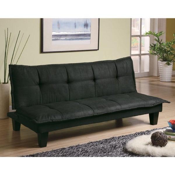 Shop Coaster Company Grey Black Fabric Sofa Bed Free
