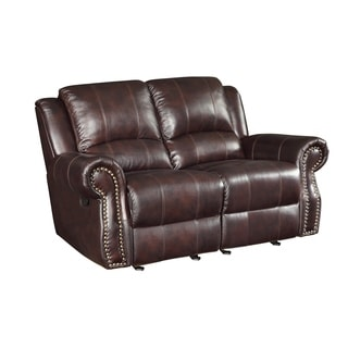 Coaster Company Sir Rawlinson Traditional Gliding Reclining Love Seat with Nailhead Studs