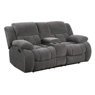 Coaster Company Charcoal Grey Chenille Motion Loveseat