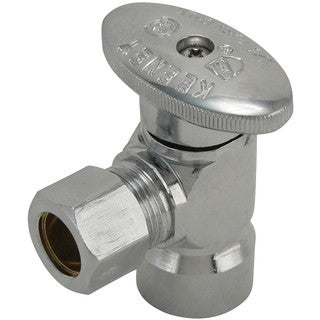 "Keeney 2048PCLF 1/2"" FIP X 3/8"" Angle Quarter Turn Valves"