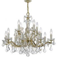 Crystorama Maria Theresa Collection 12-light Gold/Swarovski Spectra Crystal Chandelier