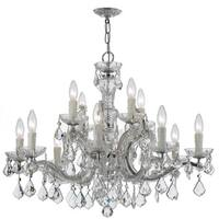 Crystorama Maria Theresa Collection 12-light Polished Chrome/Crystal Chandelier